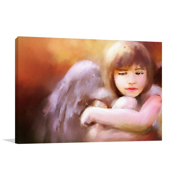 Sad Angel Girl Art Prints