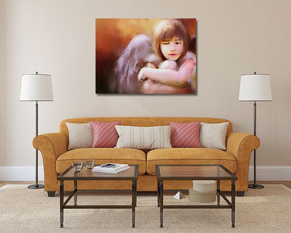 Sad Angel Girl Canvas Prints