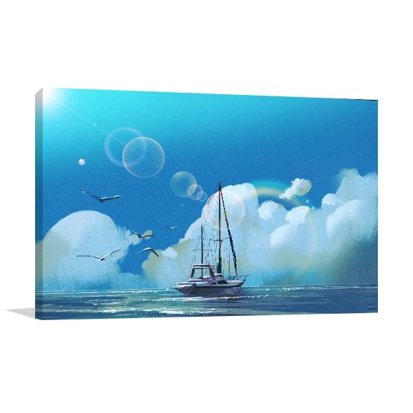 Sailboat Print Artwork