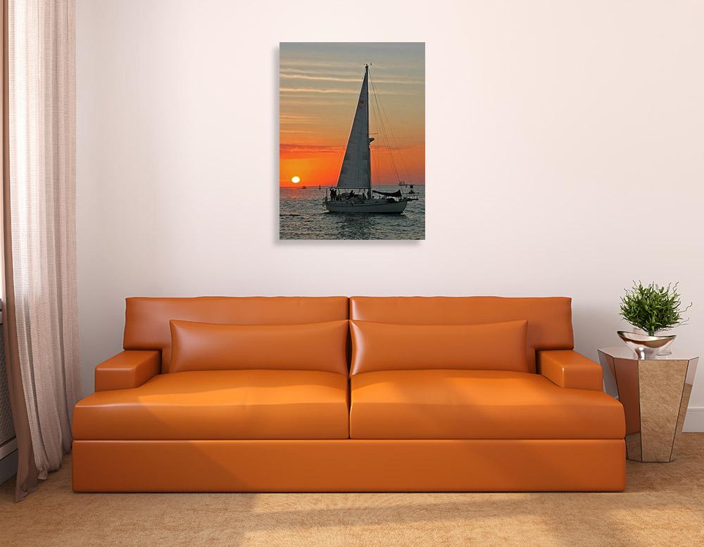 Art Canvas Orange Portrait