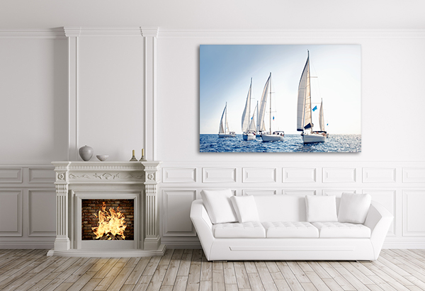 Sails Art Print on the wall