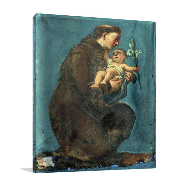 Saint Anthony Of Padua Canvas Prints