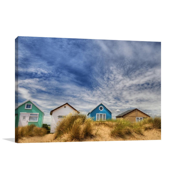 Sandy Beach Houses Art Print