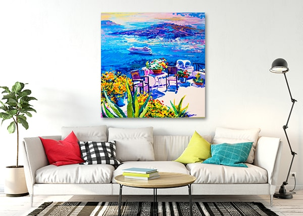 Santorini Print Artwork