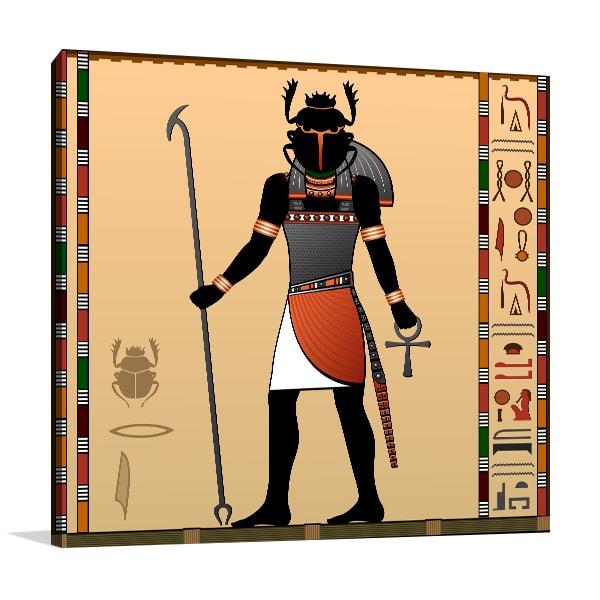 Scarab God Art Prints