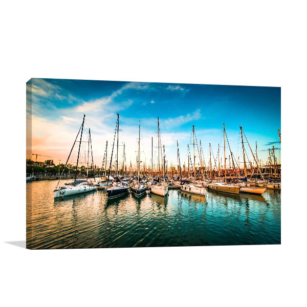 Sea Bay Yachts Prints Canvas