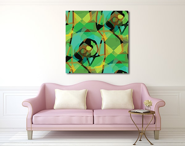 Seamless Cubism Prints Canvas