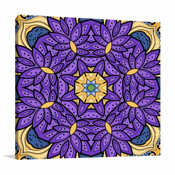 Seamless Flower Islamic Canvas Art