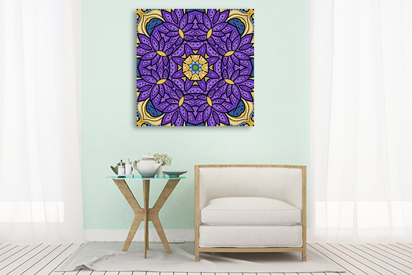 Seamless Flower Islamic Canvas Prints