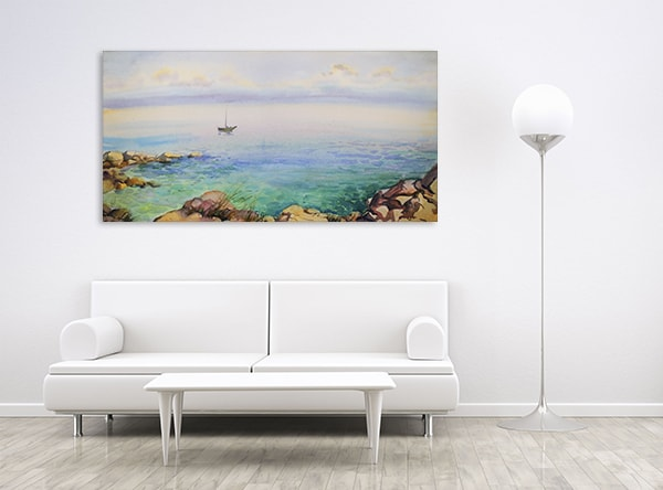 Seascape Wall Art Print on the Wall