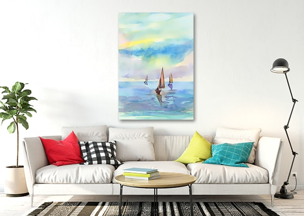 Seascape Print Canvas on the Wall