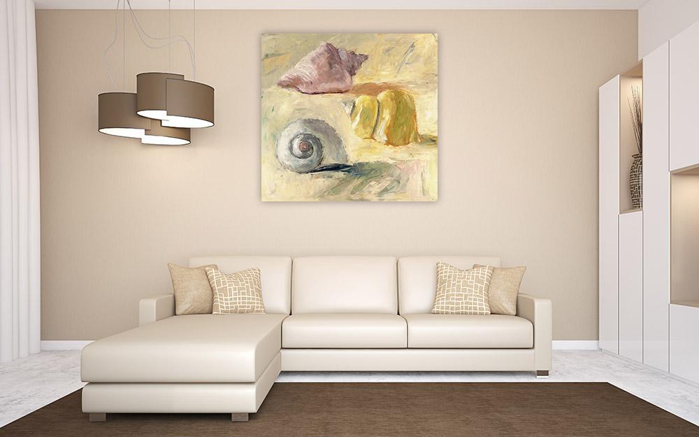 Seascape Square Print on Canvas