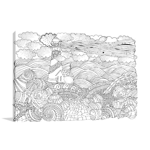 Seashore and Shells Print Artwork