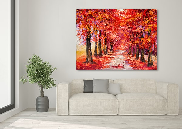 Season of Autumn Colors Wall Canvas