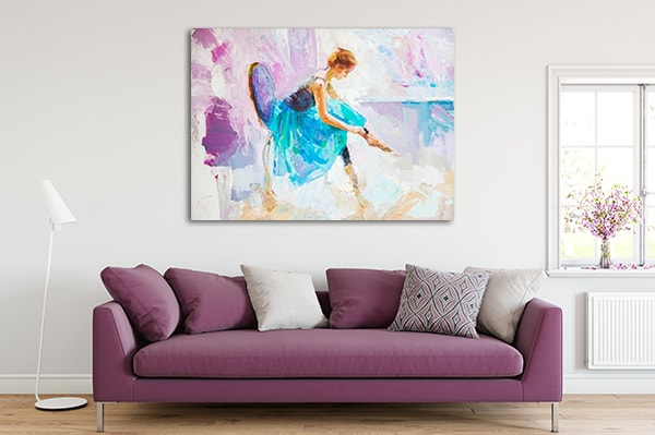 Seated Ballerina Canvas Prints