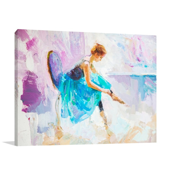 Seated Ballerina Canvas Art