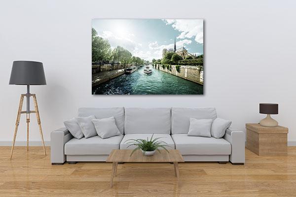 Seine and Notre Dame de Paris Canvas Prints