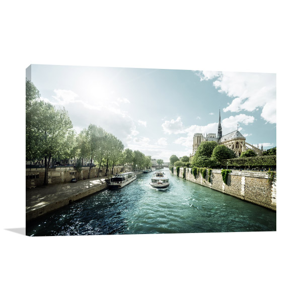 Seine and Notre Dame de Paris Wall Art