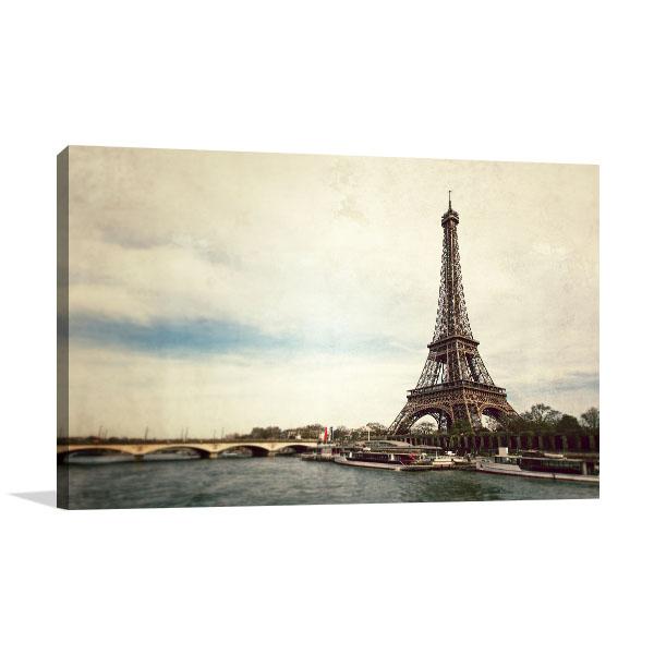 Seine River Vintage Wall Art