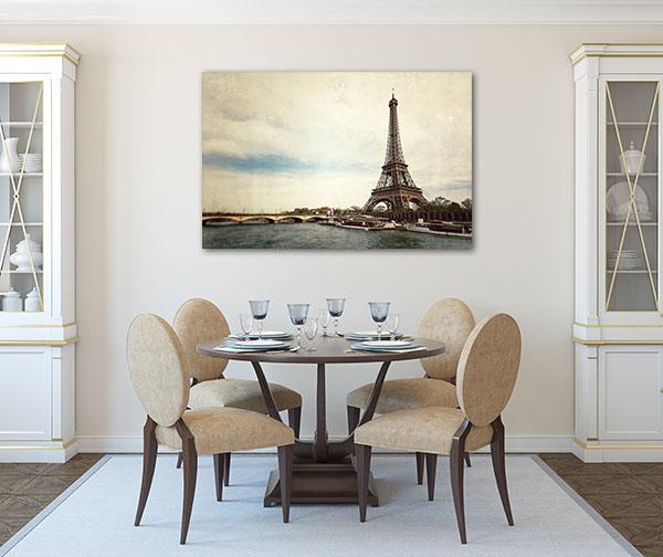 Seine River Vintage Canvas Prints
