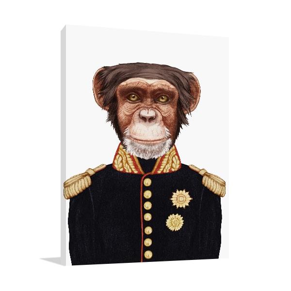 Sergeant Monkey Prints Canvas