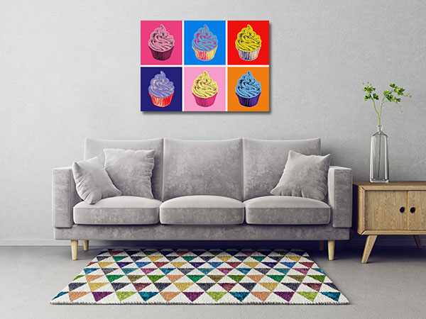 Set of Cupcakes Wall Art