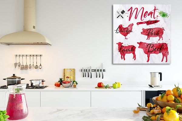 Set of Meat Canvas Art