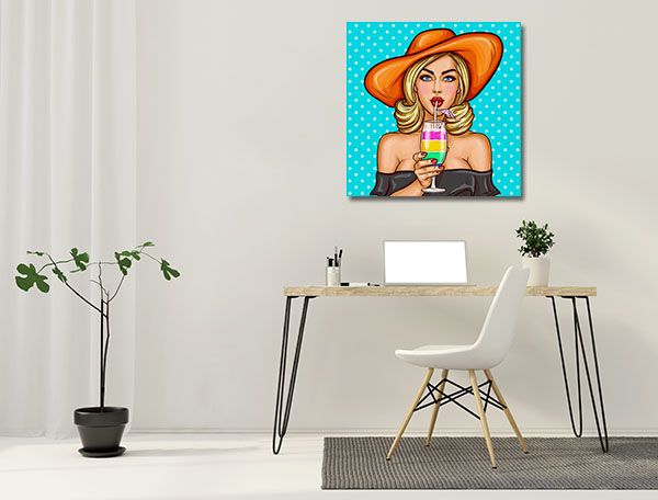 Sexy Popart Girl Prints Canvas