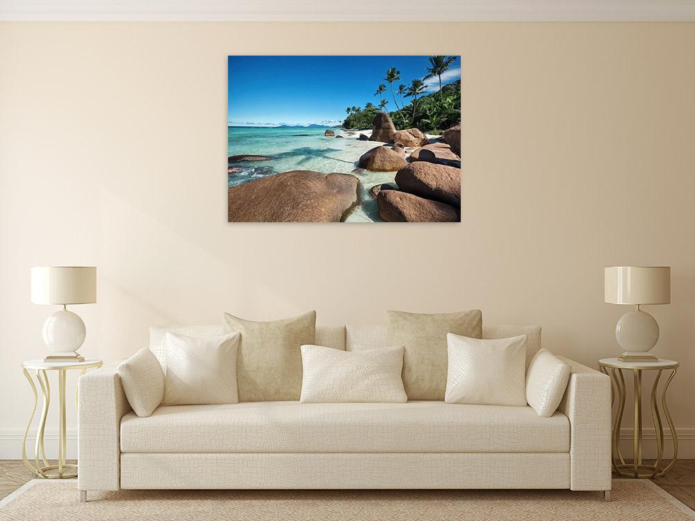 Canvas Art Print Beach Rocks