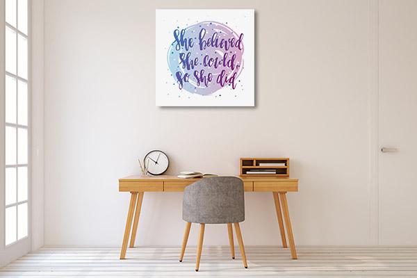 She Did Canvas Art Prints
