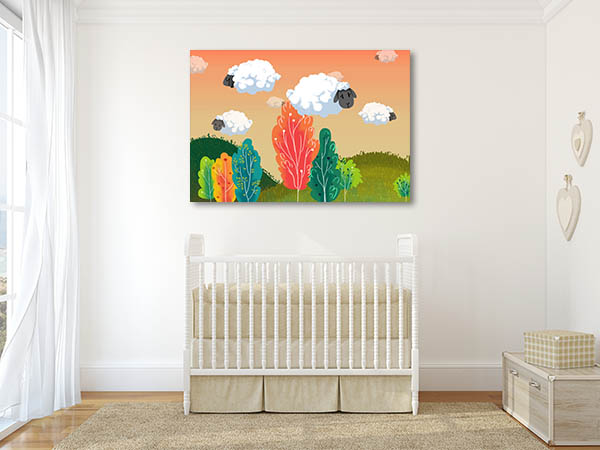 Sheeps Cloud Canvas Prints