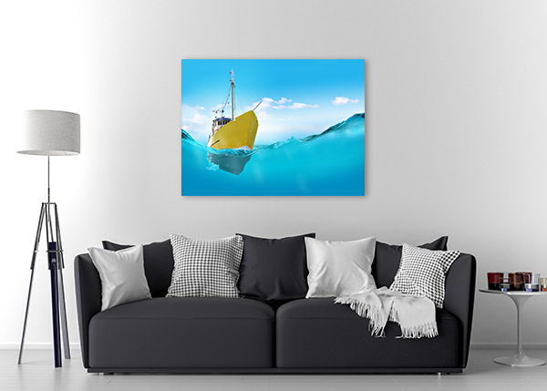 Ship In The Sea Canvas Prints