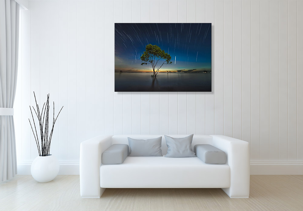 Night Stars Photography Print on Canvas