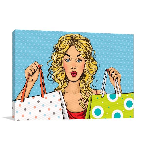 Shopaholic Canvas Art Print