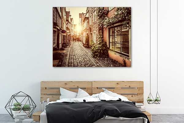 Sidewalk Canvas Art Print on the wall