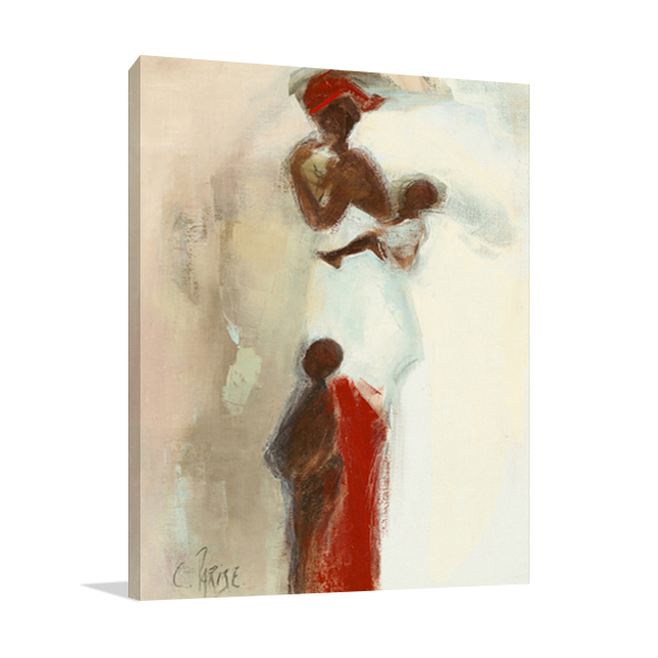 Silhouettes Africaines II Wall Art Print