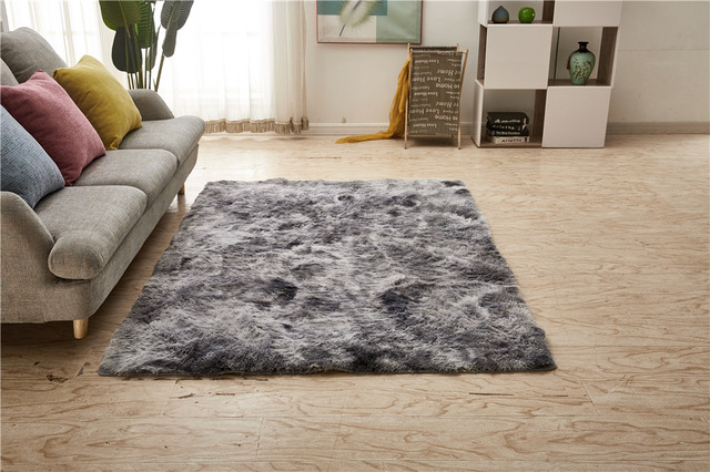 Silver Grey Nordic Pile Plush Rugs Carpet Australia