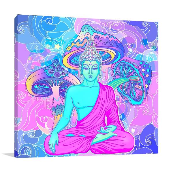 Sitting Buddha Canvas Prints