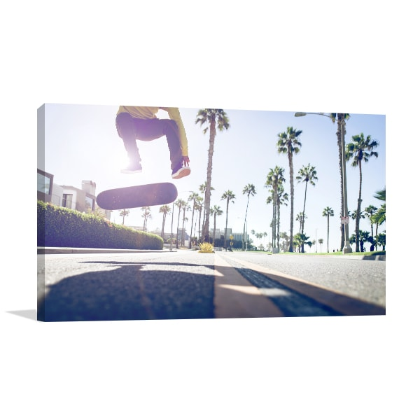 Skater on Street Wall Art Print