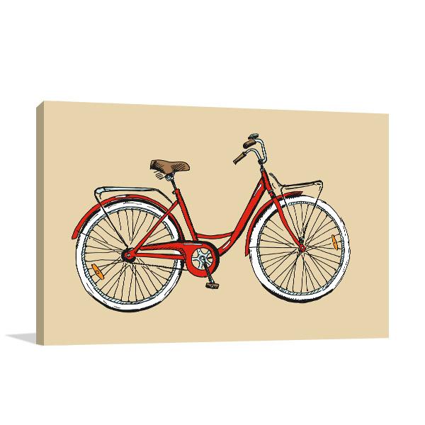 Sketch Bike Canvas Art Prints