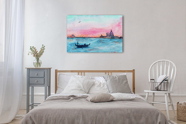 Sketch Sunset in Venice Canvas Art