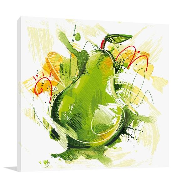 Sketchy Pear Art Prints