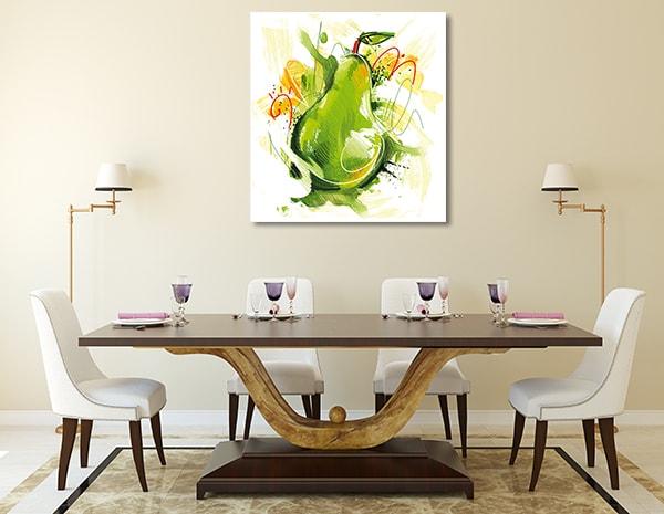 Sketchy Pear Canvas Prints