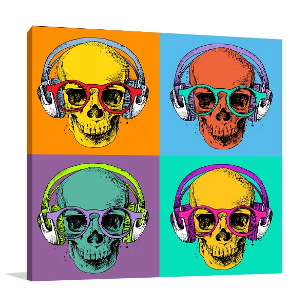 Skull in Headphones Artwork