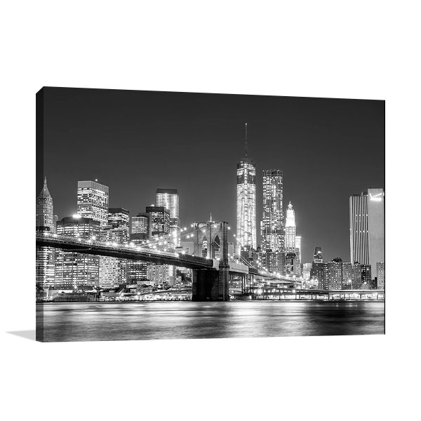 Skyline New York City Wall Canvas Print