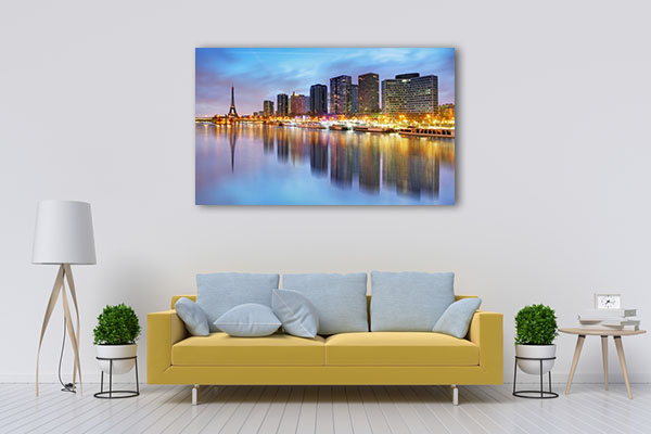Skyline View of Paris in Twilight Canvas Prints