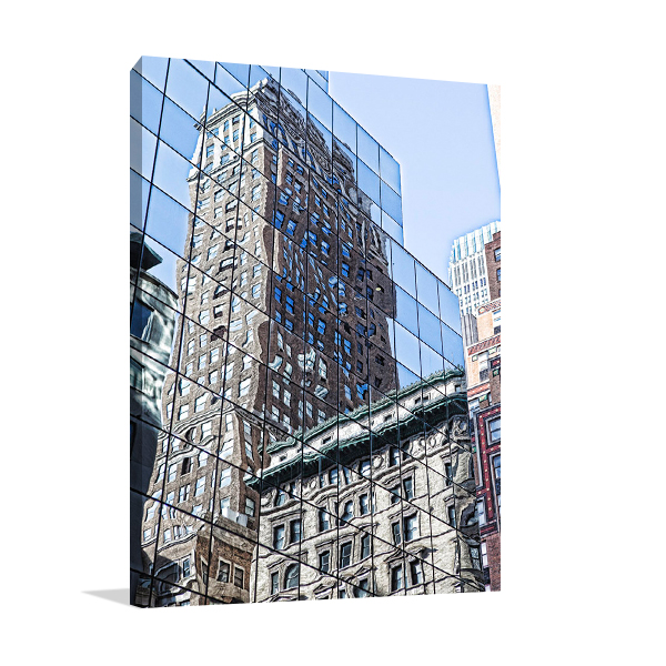 Skycraper Reflections New York Wall Art Print