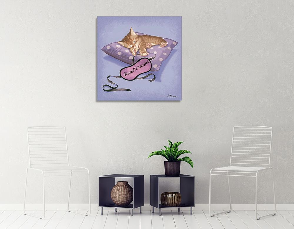 Purple Kids Room Art on Canvas