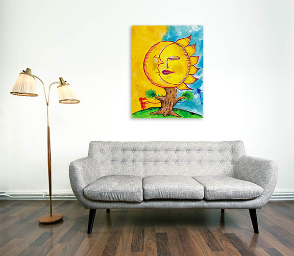 Sleeping Moon And Sun Canvas Prints
