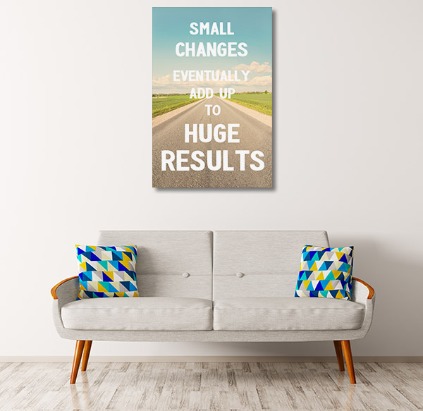 Small Changes Wall Art